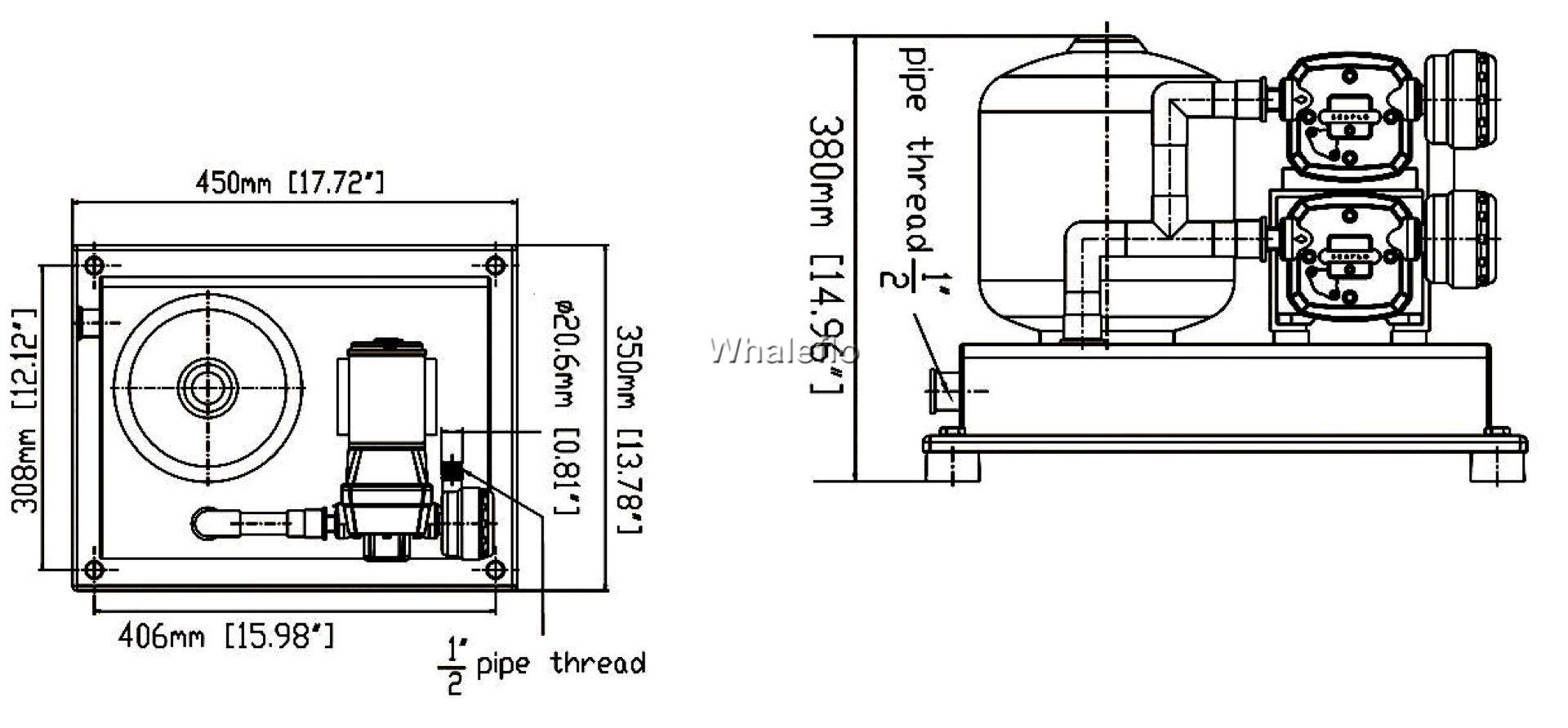8L tank with double pressure pump
